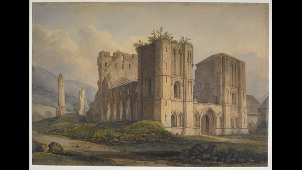 A view of Llanthony Priory by Charles Alban Buckler.