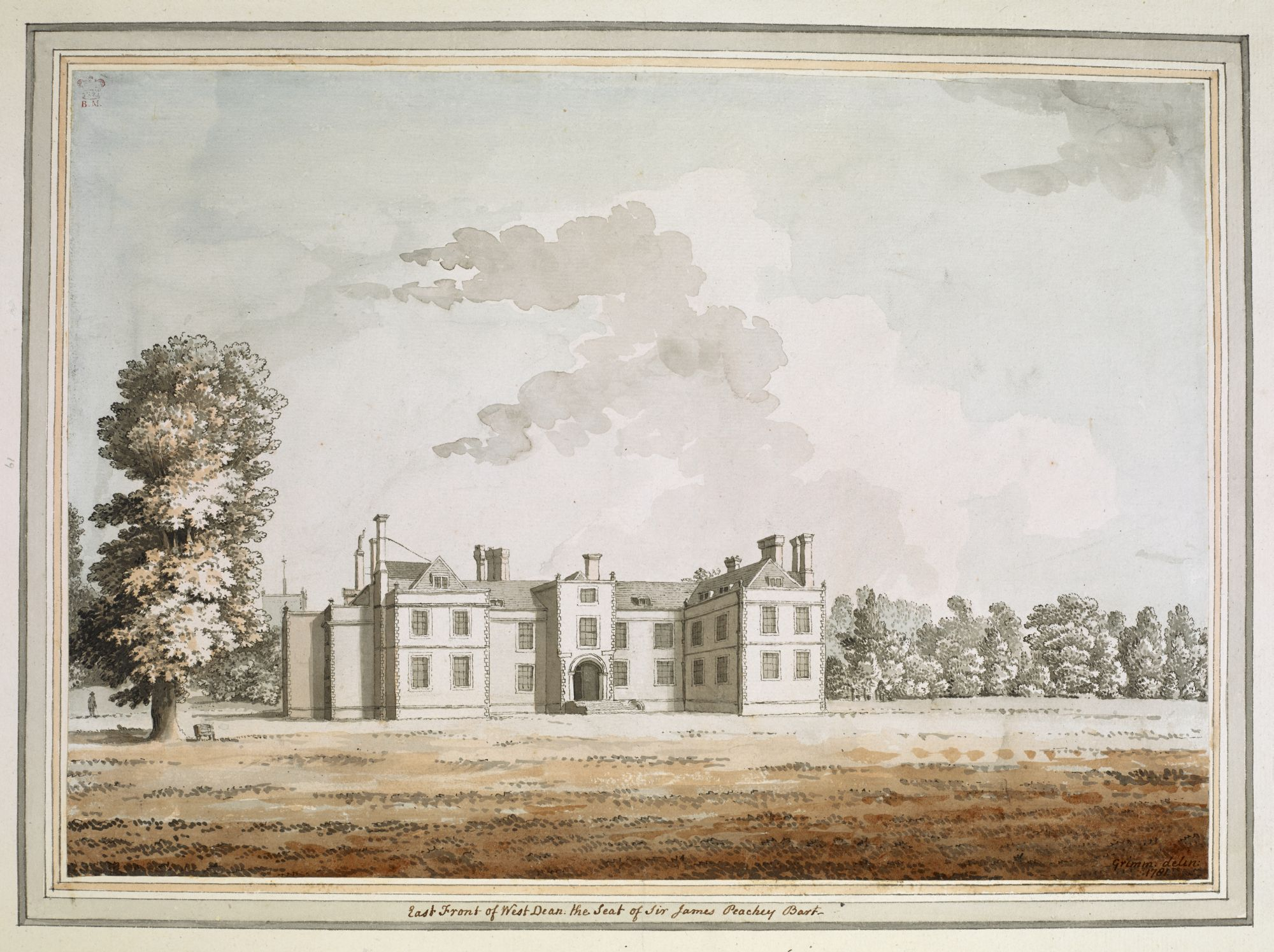 West Dean House, Sussex, by Samuel Hieronymus Grimm.