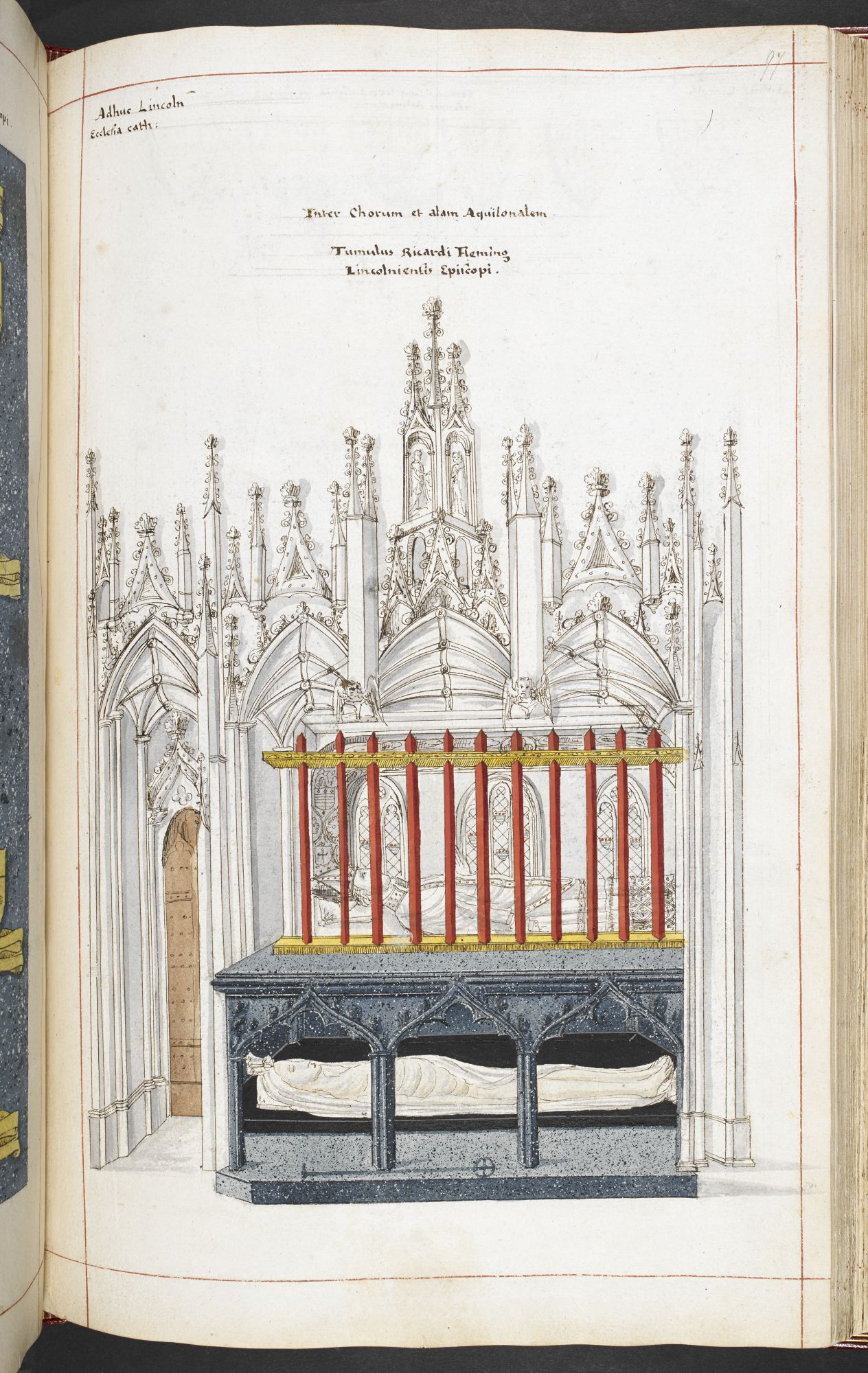 A view of the tomb of Bishop Richard Fleming in Lincoln Cathedral by William Sedgwick.