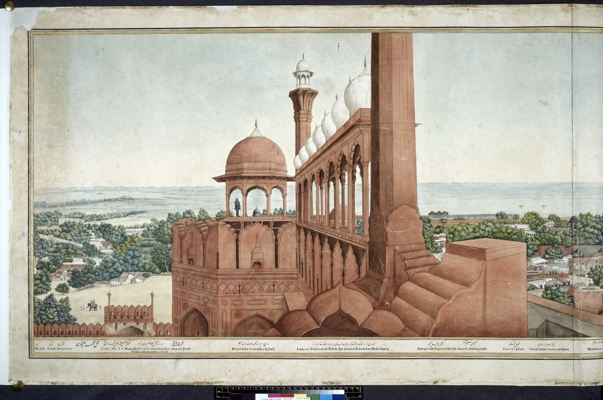 A Panorama of Delhi taken from the top of the Lahore Gate of the Red Fort (1), by Mazhar Ali Khan.