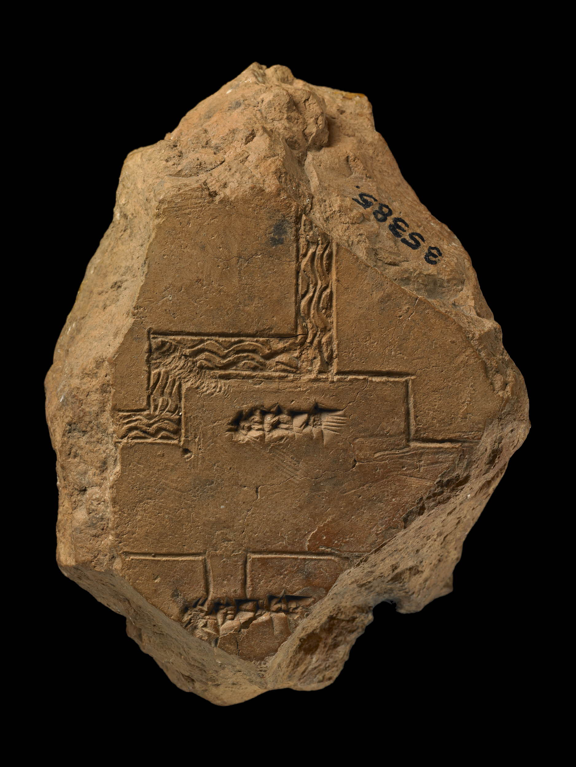 Fragment of a city plan labelled 'Tuba'.