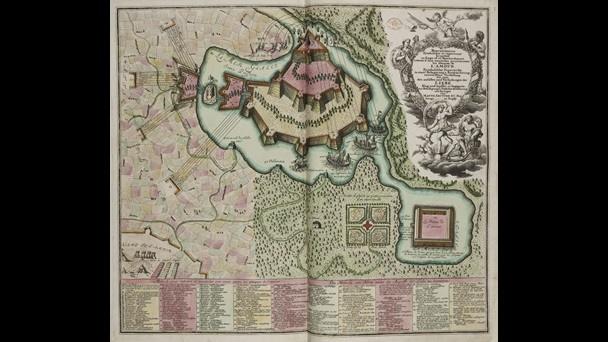 Allegorical Map of the Siege of the Castle of Love, by Georg Matthaüs Seutter Sr.