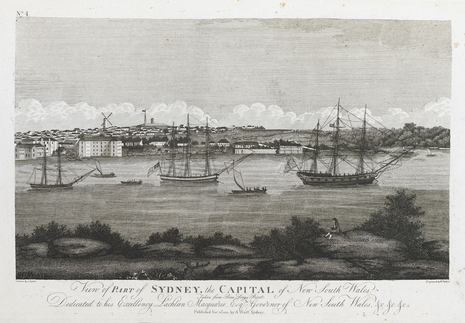 View of PART of SYDNEY, the CAPITAL of New South Wales; Taken from Bene Longs Point