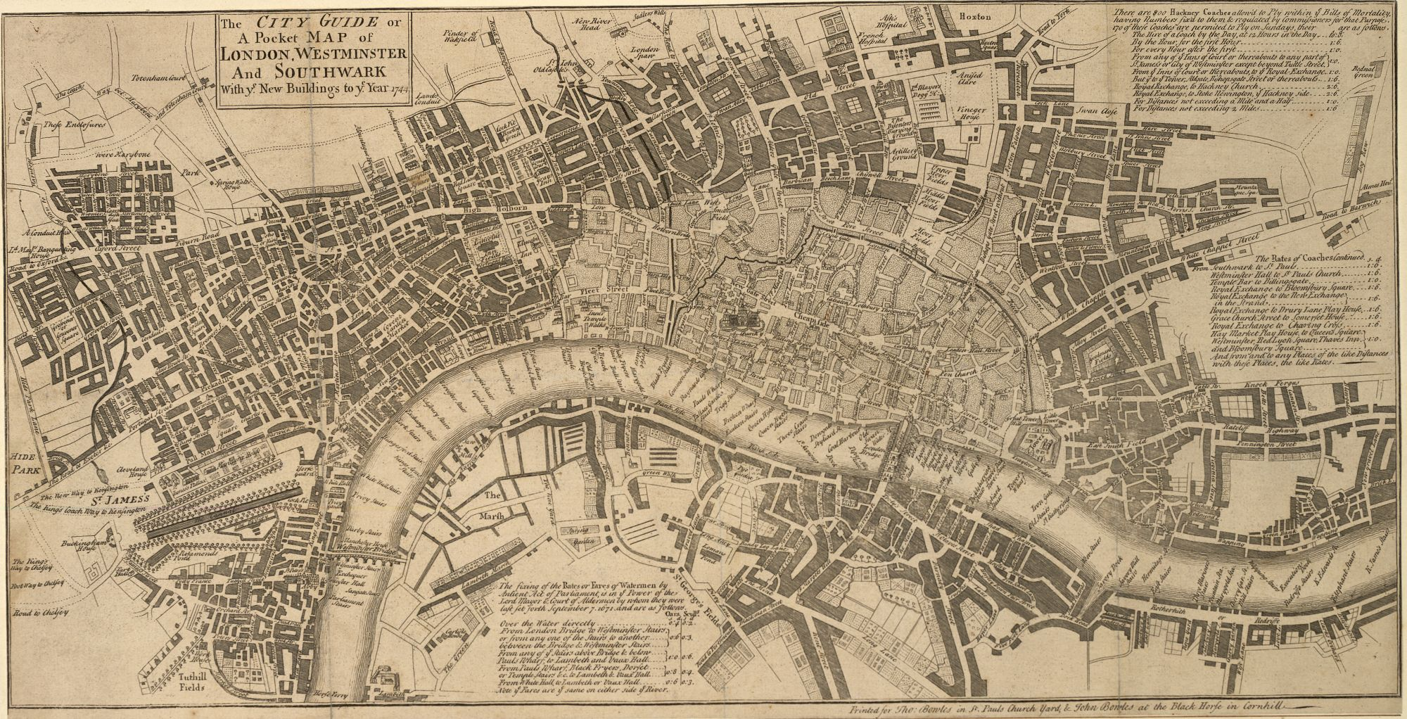 John Bowles' Pocket Map of London.