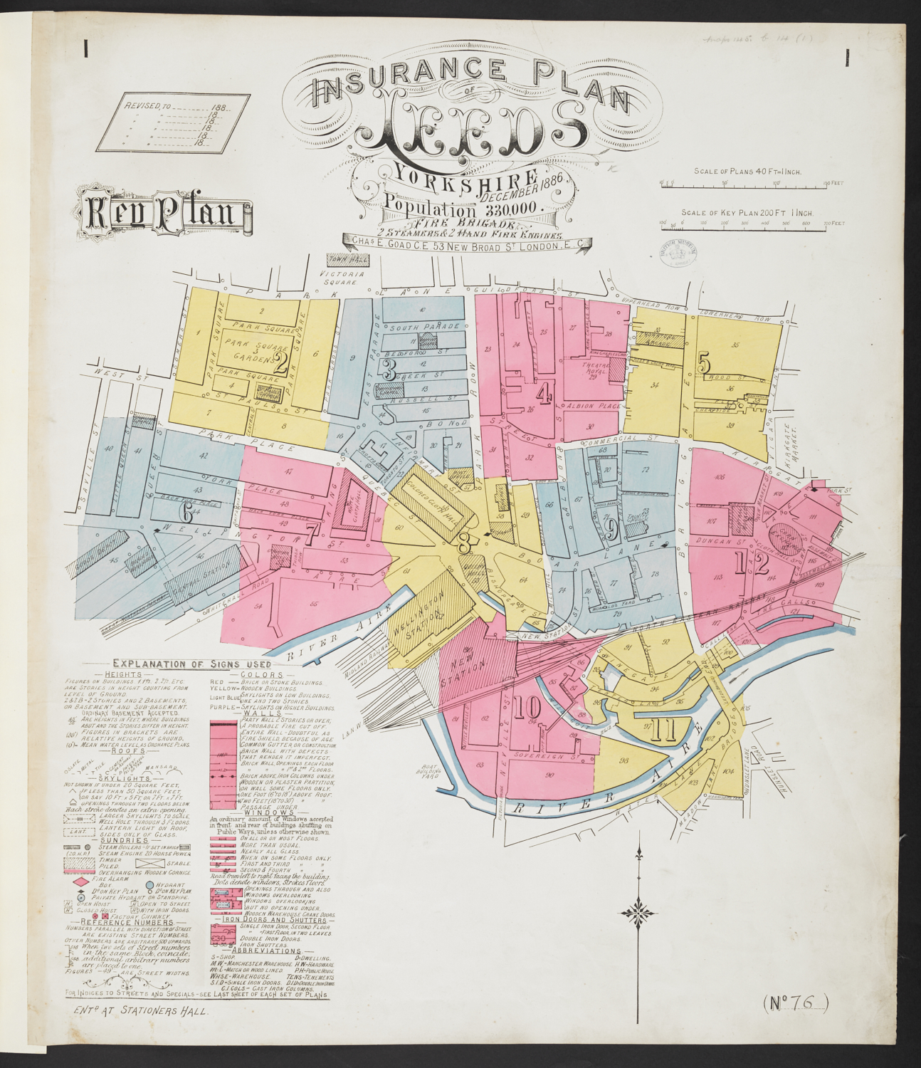 A Fire Insurance Plan of the City of Leeds.