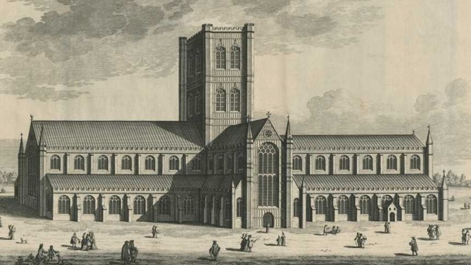 Illustration of a cathedral