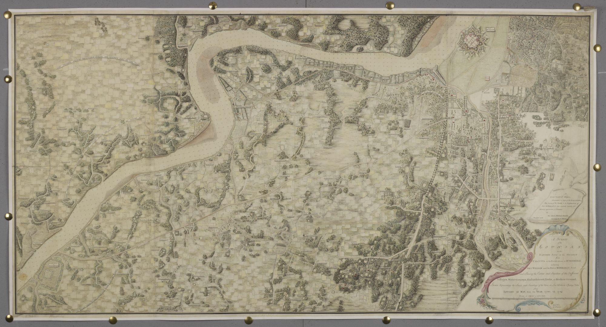 Survey of the Country on the Eastern Bank of the Hughly, by Mark Woods.
