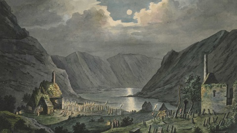 View of Glendalough in Wicklow, Ireland, by Peter Van Lerberghe