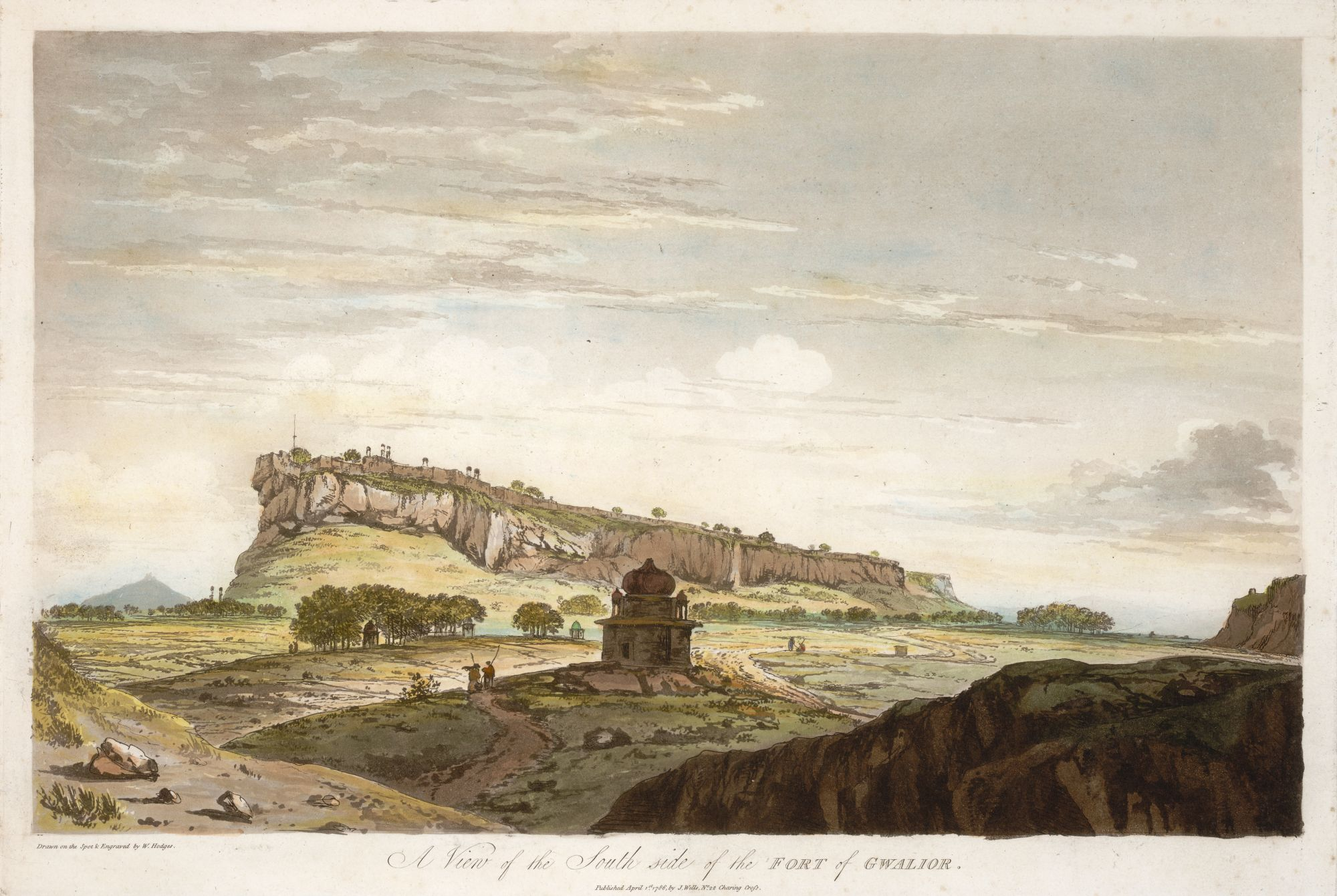 A View of the South Side of the Fort of Gwalior