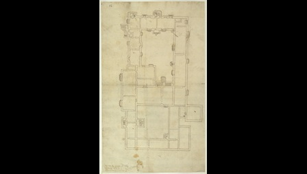 John Rogers, Proposal for Remodelling the First Floor of Hull Manor, Jun 1542 or 1543, Cotton, Augustus I.i.84