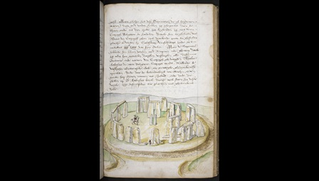 Lucas de Heere (1534-84), Stonehenge, about 1573-5, pen and ink on paper