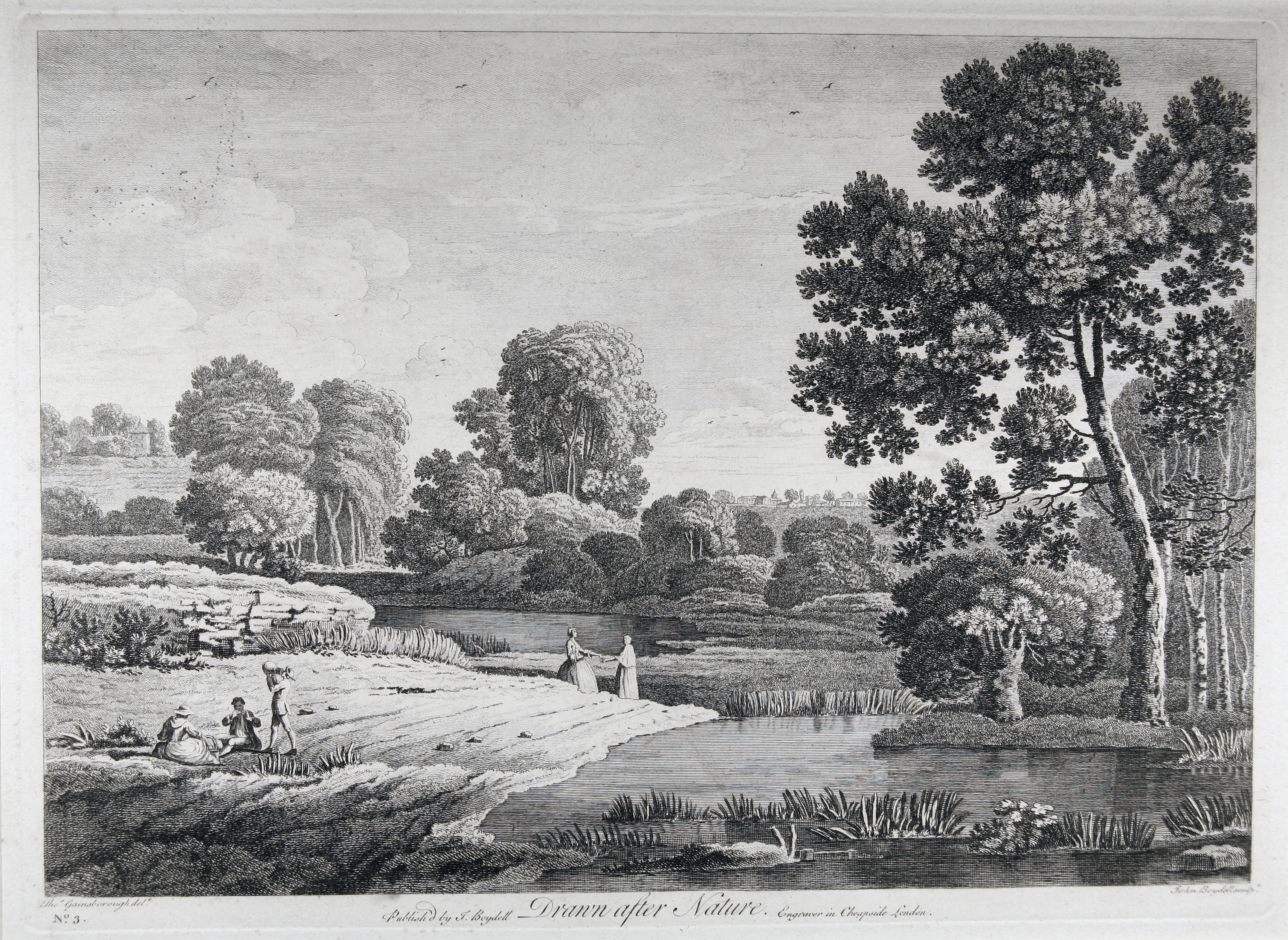 John Boydell (1720-1804) after Thomas Gainsborough (1727-88), Drawn after Nature, Cheapside, London, John Boydell, 1747, etching and engraving, 250 x 344 mm, British Museum, London (1912,0802.46)