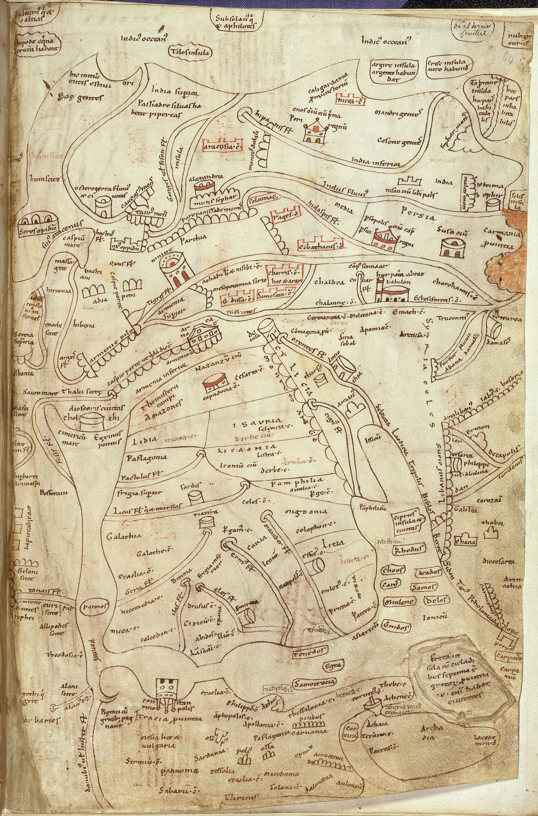 12th-century copy of map of Asia