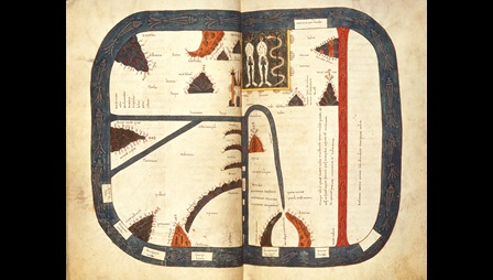 12th-century Beatus world map.