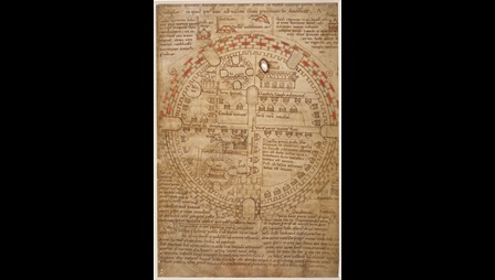 Circular plan of Jerusalem