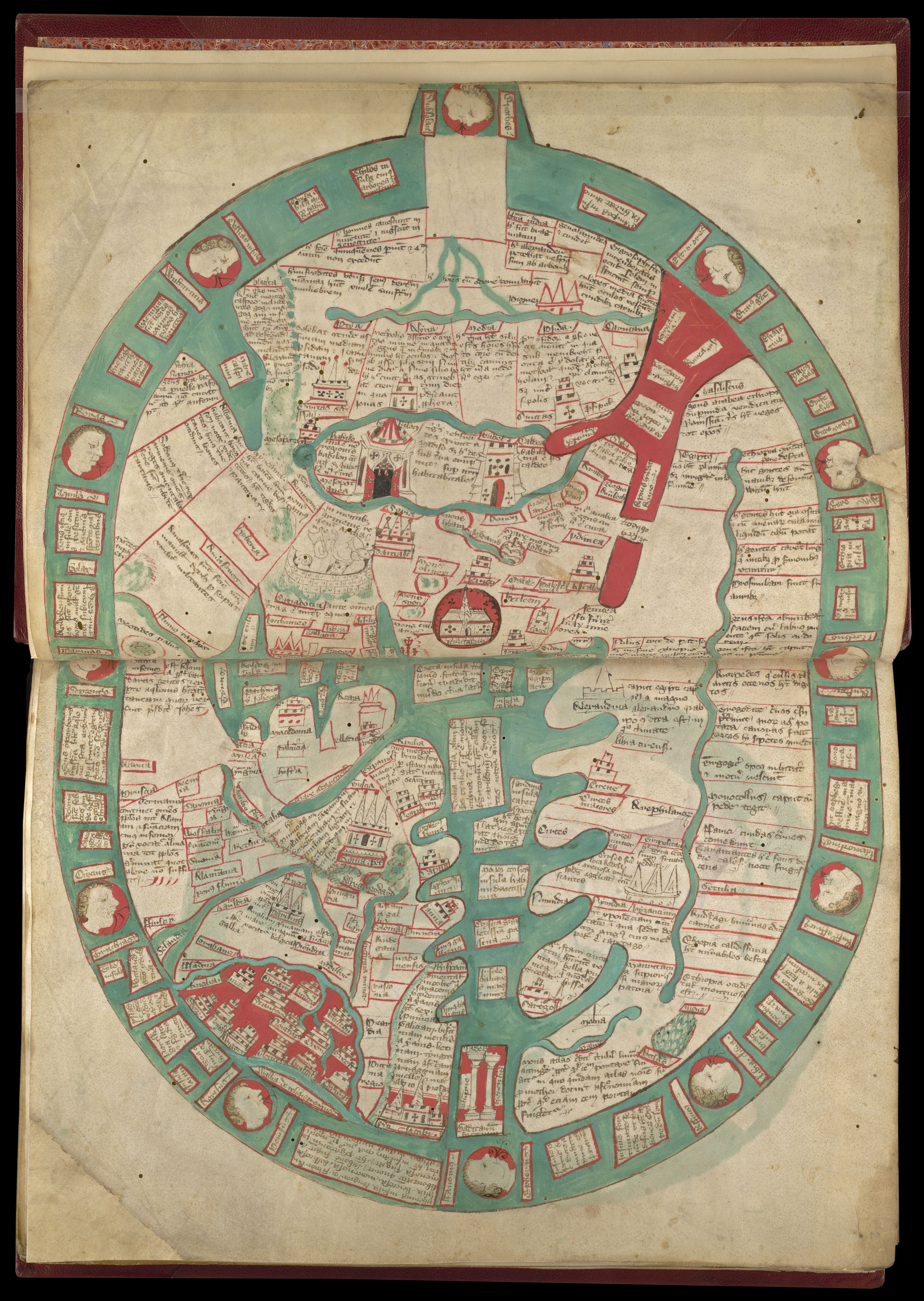 Map Of Spain 8th Century.World Maps Before 1400 British Library Picturing Places The