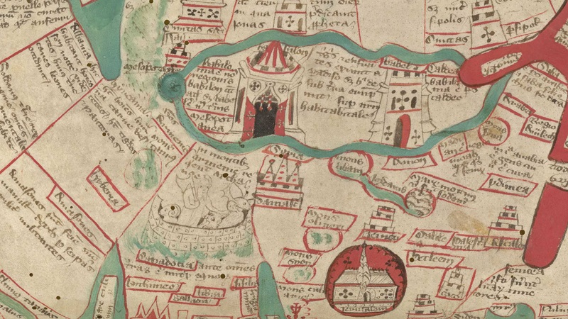 Wolrd map by Ranulph Higden, dated 1400