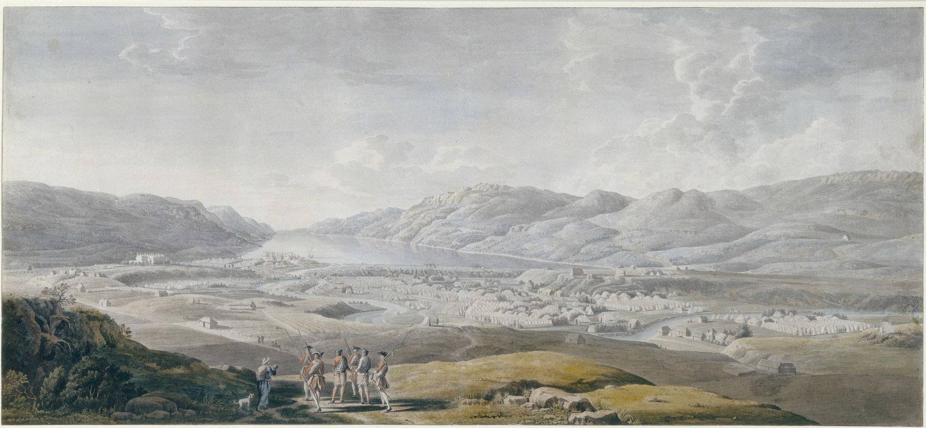 Thomas Sandby's view of Fort Augustus