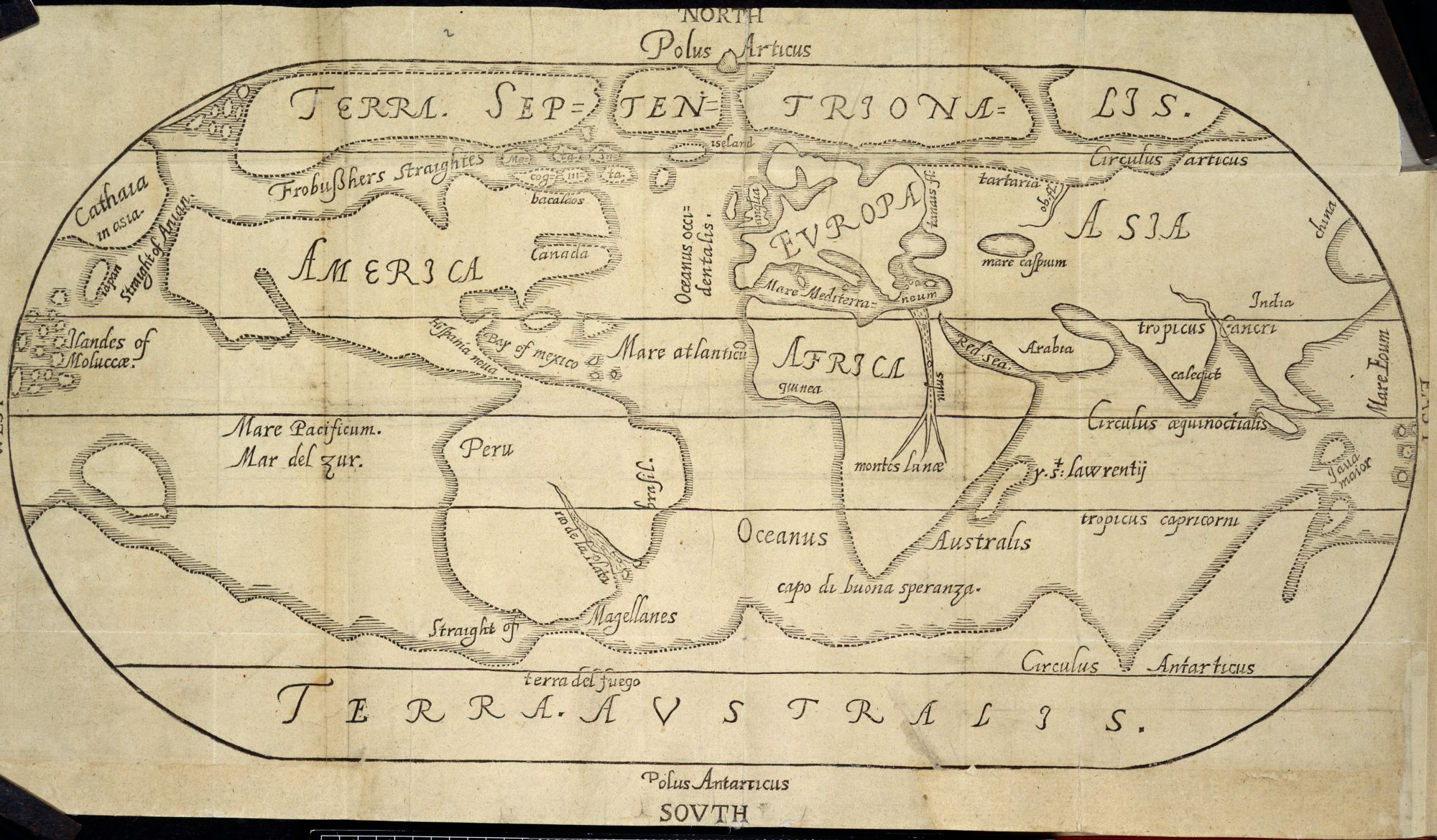 A Map of the Globe, by George Beste