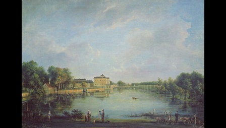 Elias Martin, View of the Iron-making Estate at Leufstabruk, 1793, oil on canvas, private collection