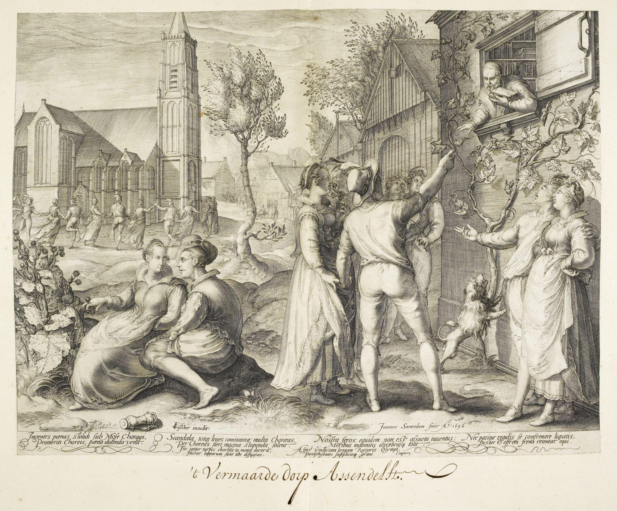 A village dance, by Jan Saenredam.