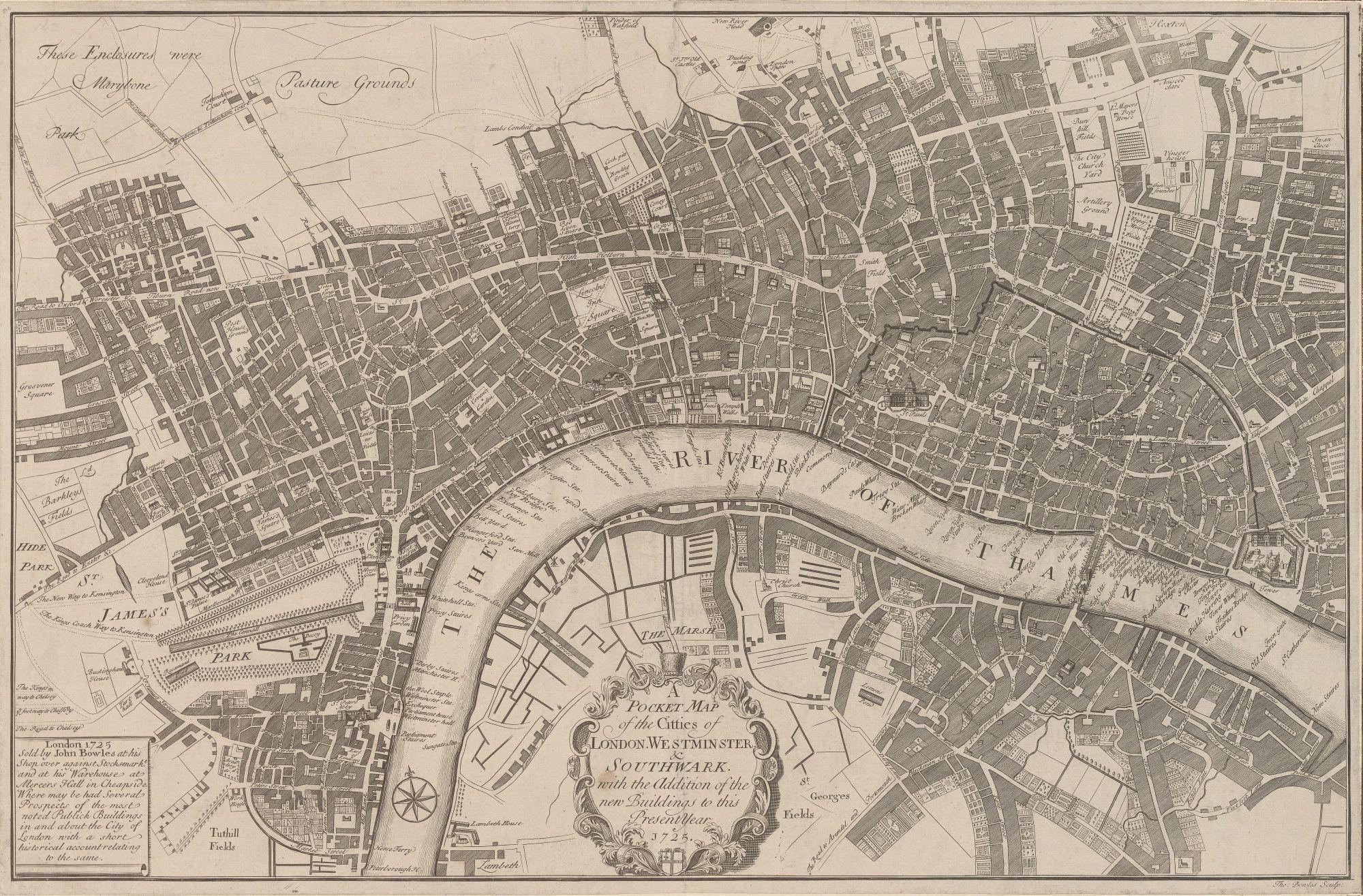 Thomas Bowles' Pocket Map of London