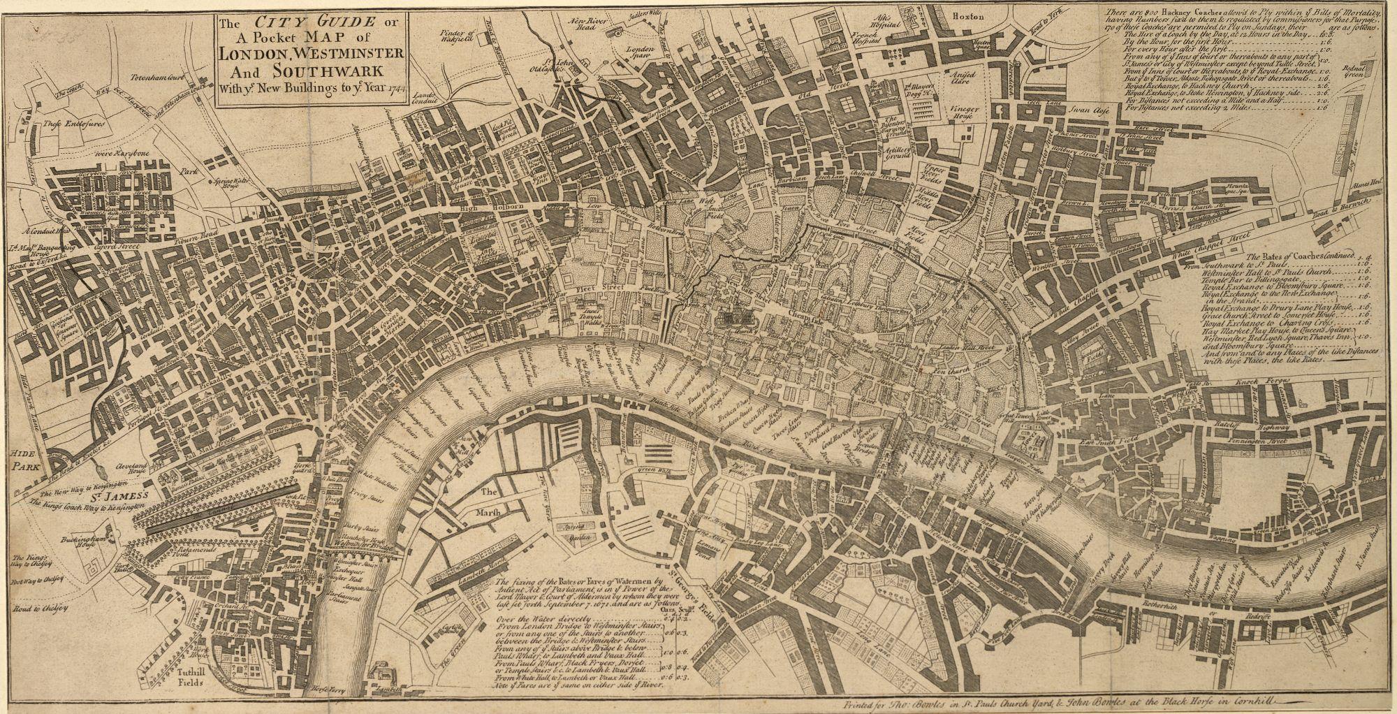 John Bowles' Pocket Map of London.
