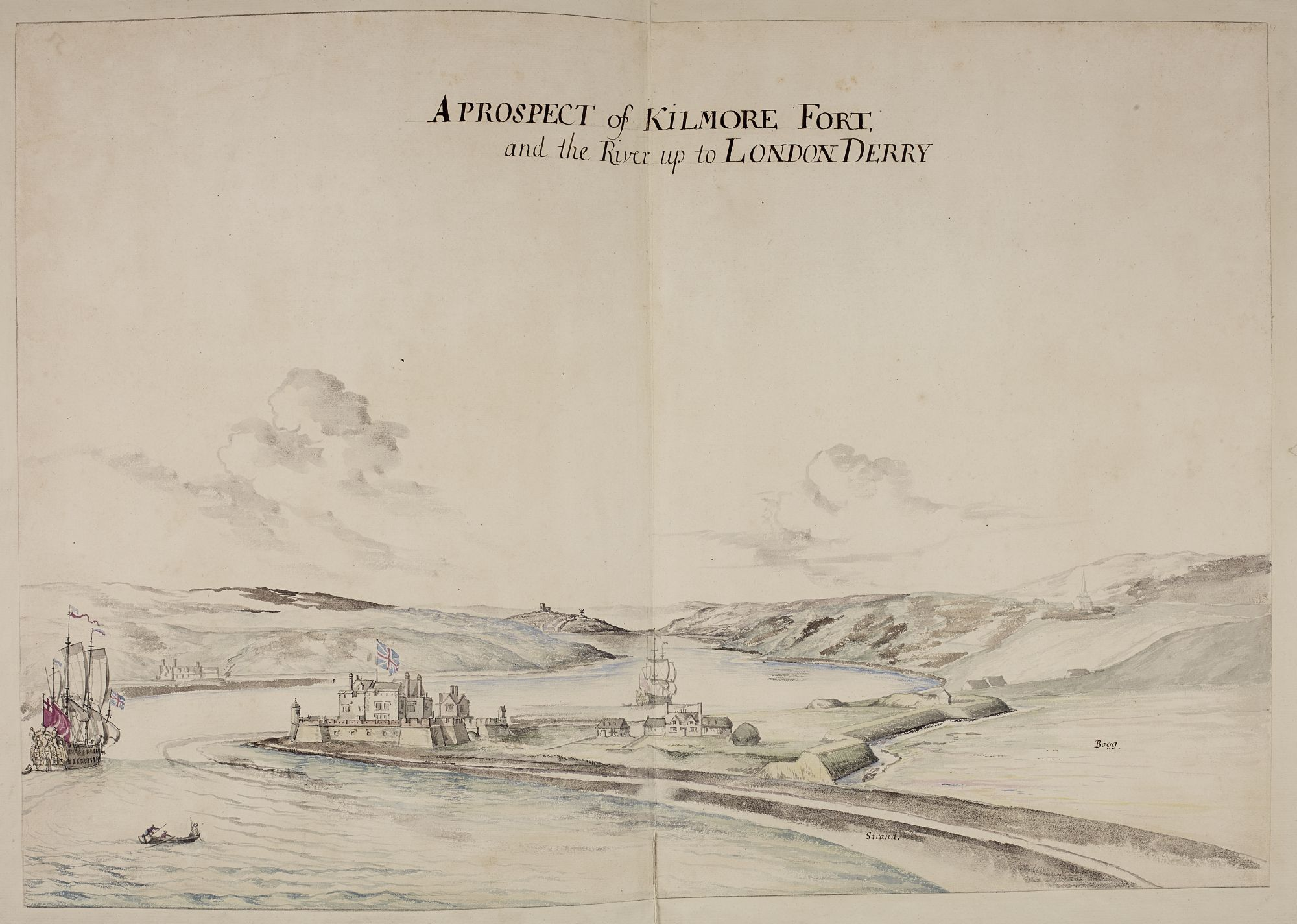 A Prospect of Kilmore Fort and the River up to London Derry, Anon.