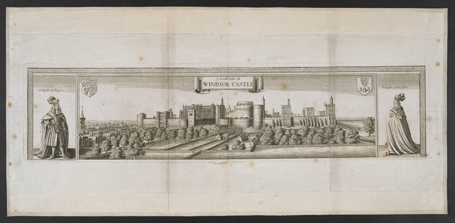 Wenceslaus Hollar's View of the South Side of Windsor Castle published in 1666