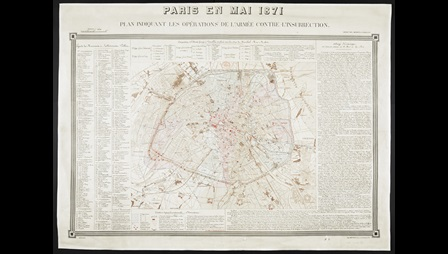 A Map of Paris from 1871