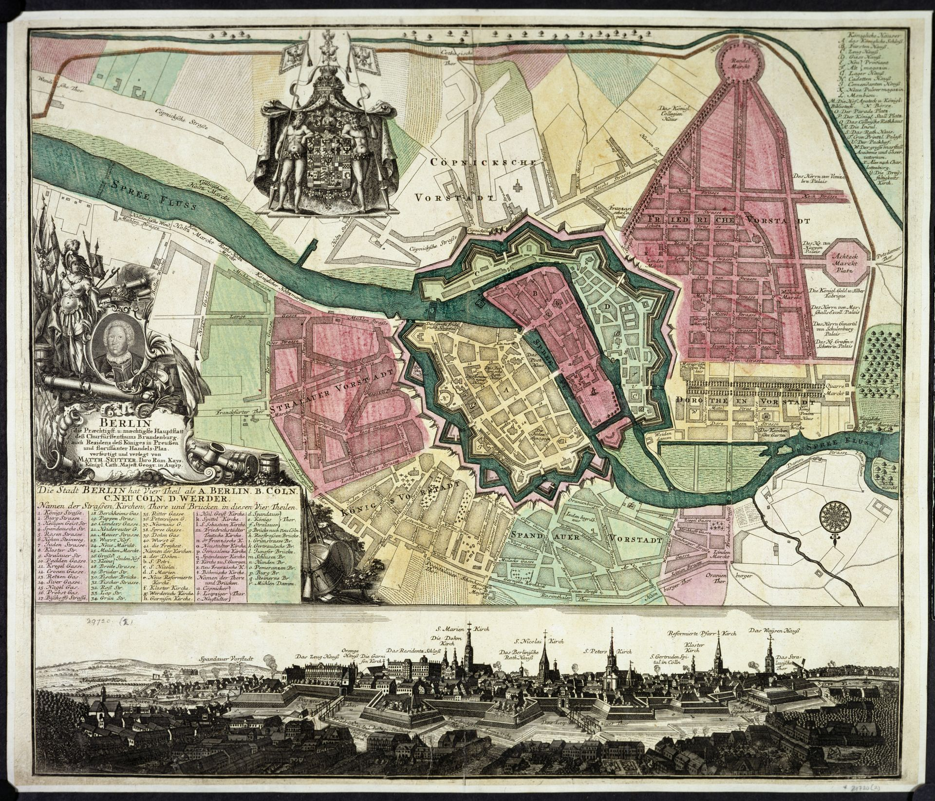 Matthäus Seutter, Berlin (Augsburg: M. Seutter, c. 1720). Maps 29720.(2).