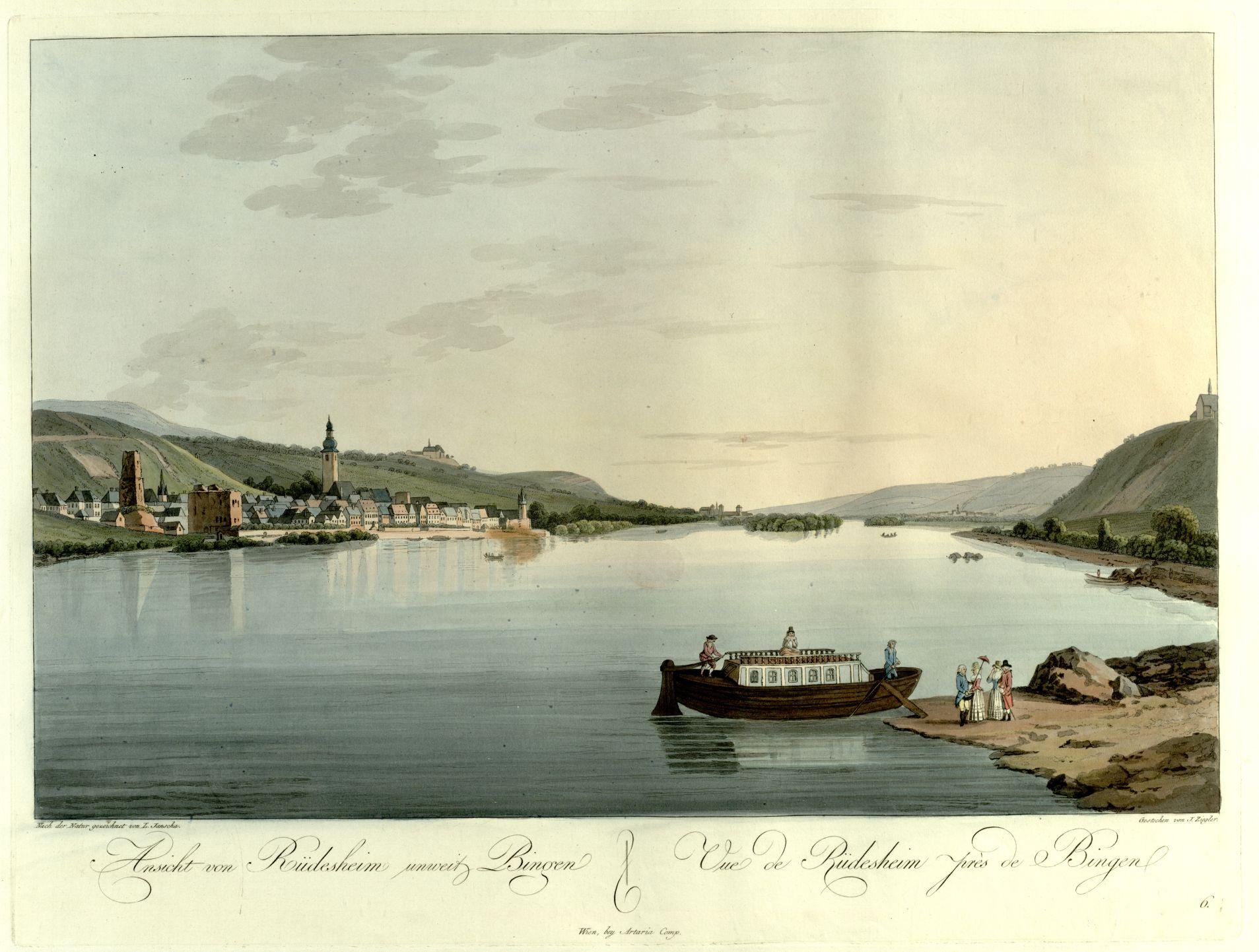 A view of Rudesheim and Bingen on the Rhine
