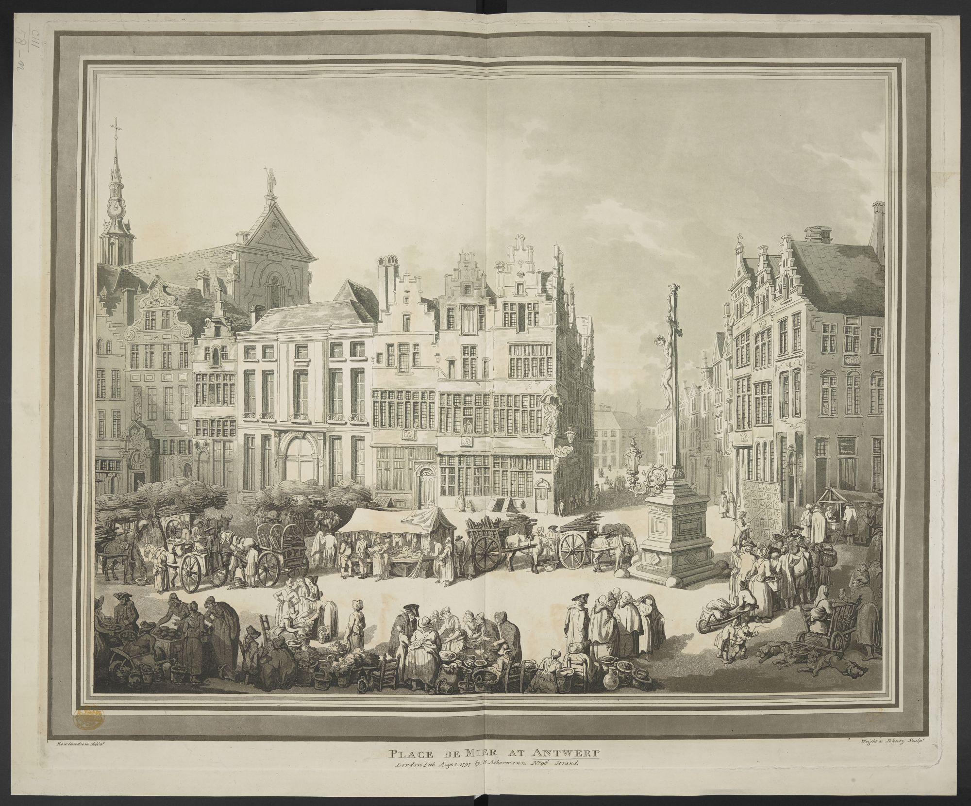 A view of the Place de Mier in Antwerp