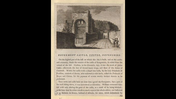 Rougemont Castle, Exeter, Devonshire, by Samuel Sparrow.