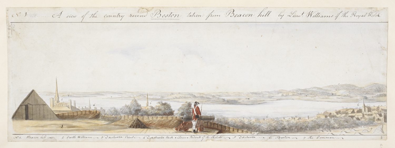 A View of the country round Boston taken from Beacon hill, by Richard Williams.