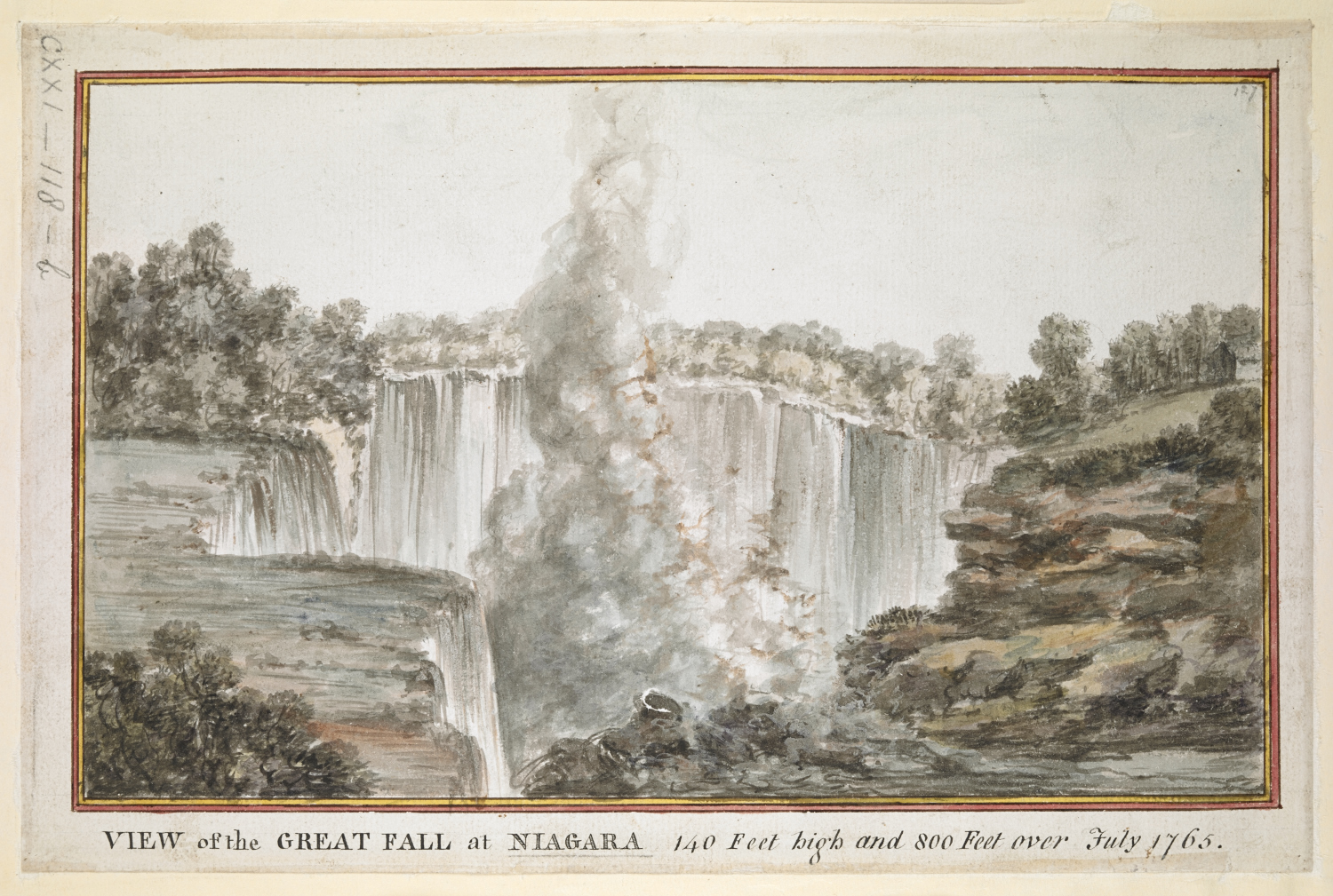 Lord Adam Gordon's View of the Great Fall at Niagara