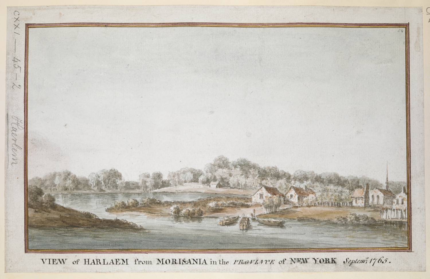 Lord Adam Gordon's View of Harlaem from Morisania in the Province of New York