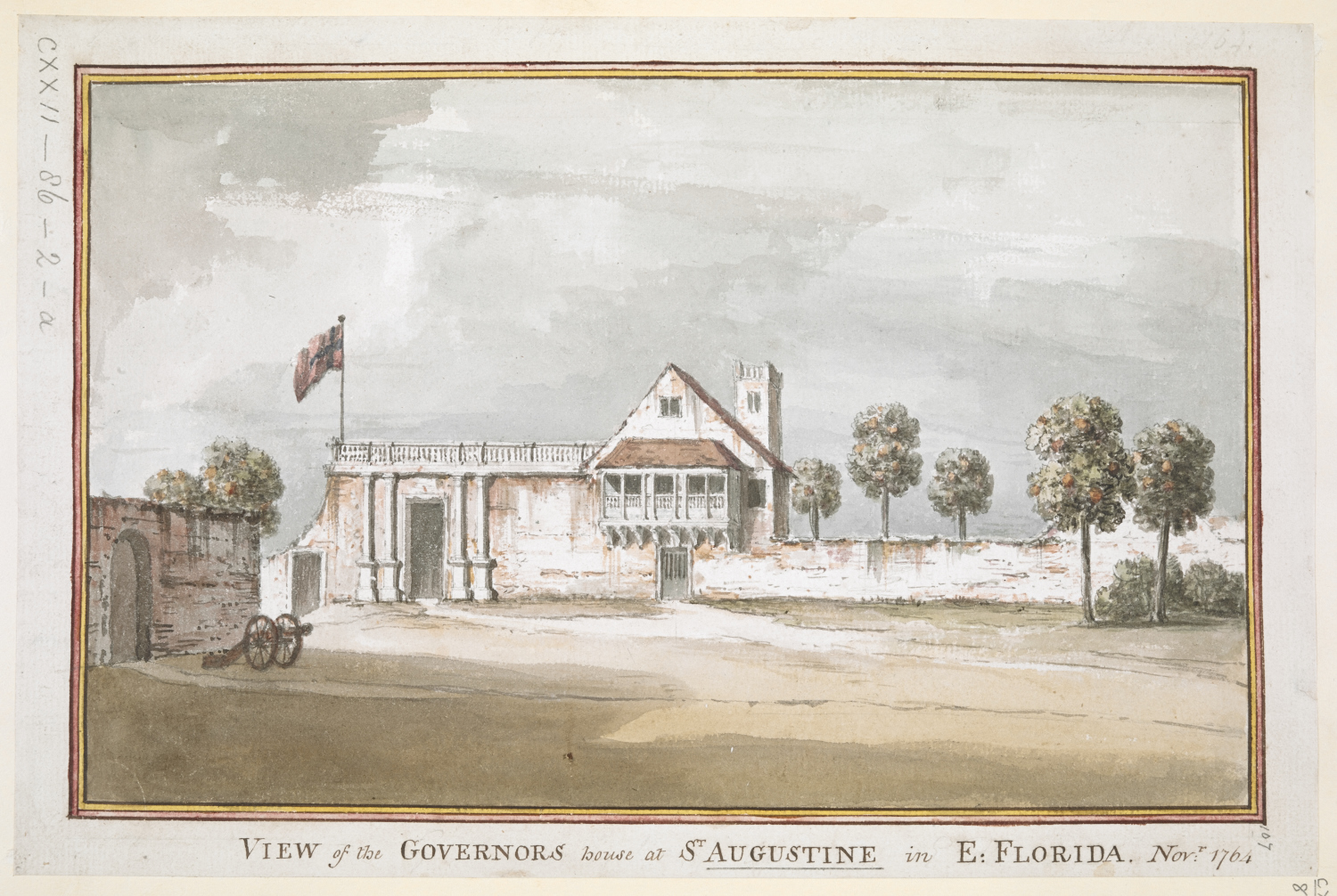 Lord Adam Gordon's View of the Governor's house at St. Augustine in East Florida