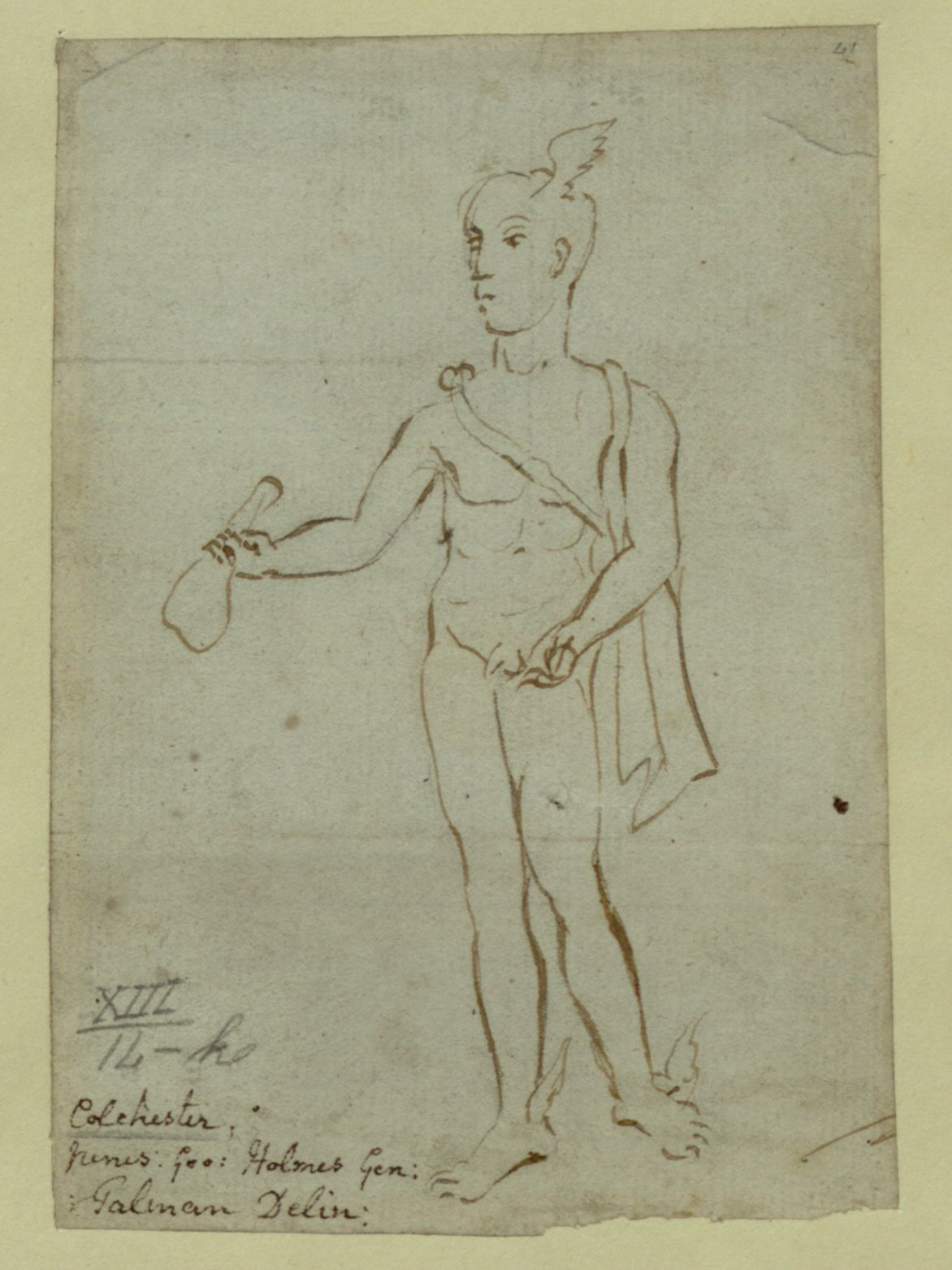 Figure of Mercury found at Colchester, attributed to John Talman.