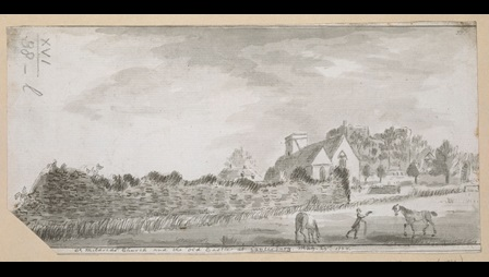 St Mildred's Church, and the Old Castle, at Canterbury, by Francis Grose.