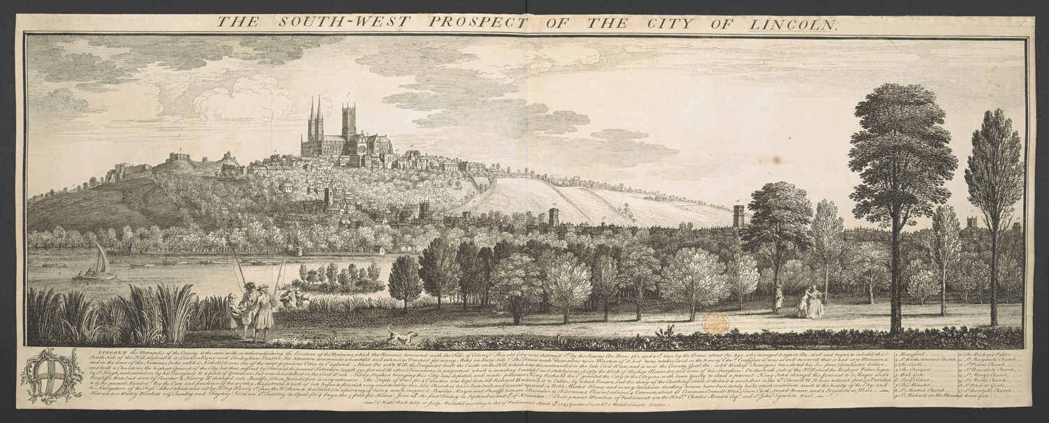 S.W. Prospect of the City of Lincoln, by Buck.