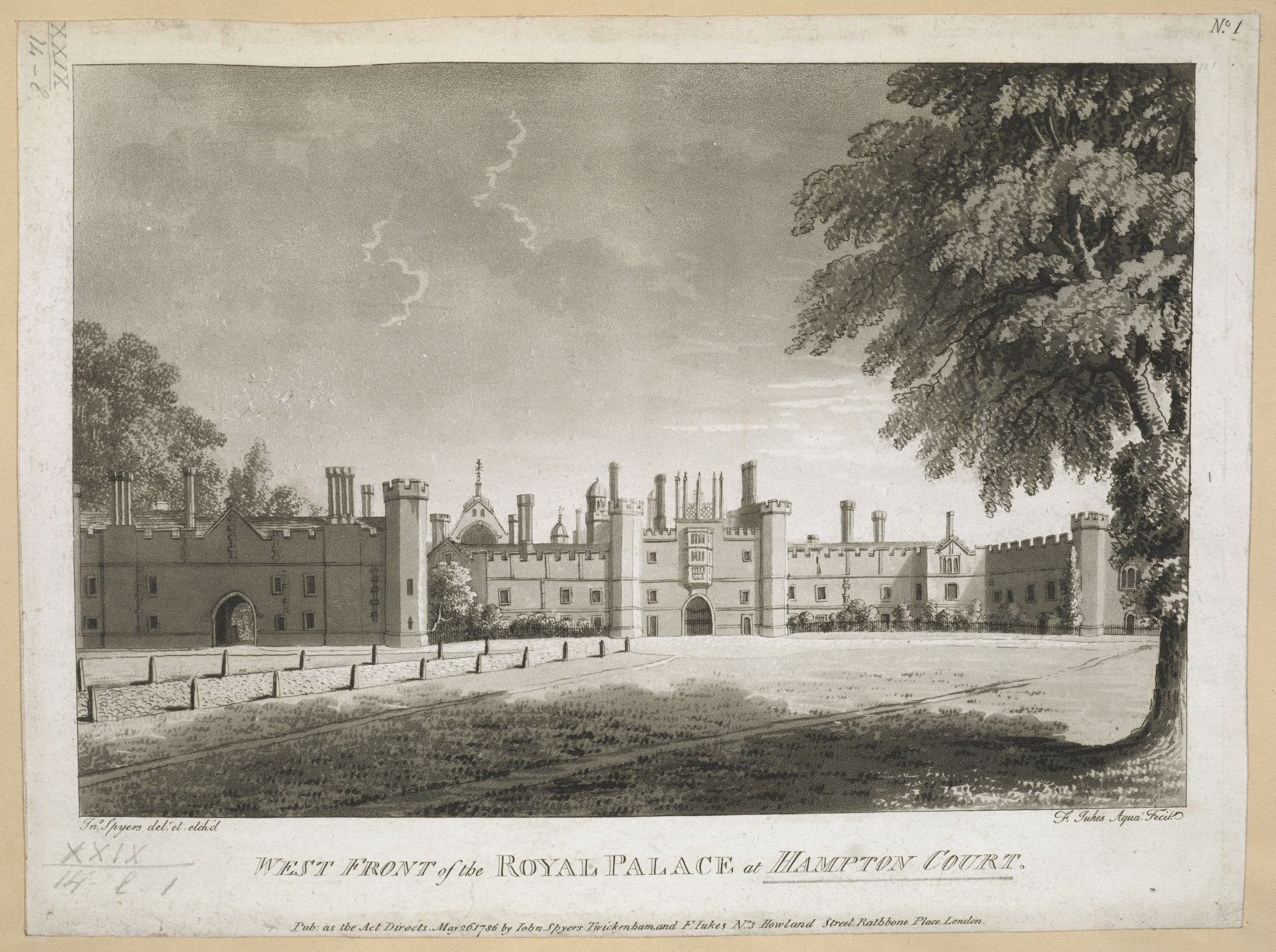 West Front of the Royal Palace of Hampton Court, by John Spyers.