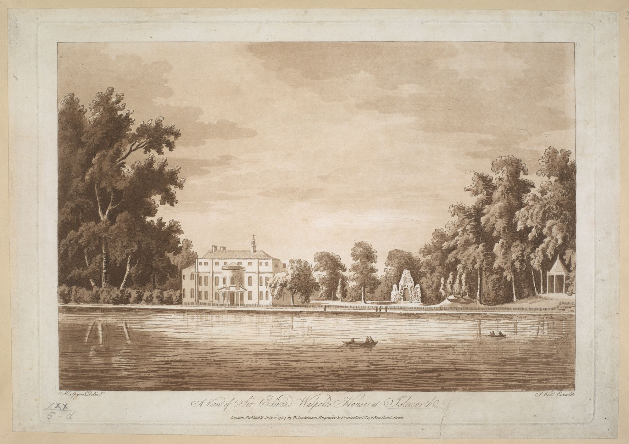 A View of Sir Edward Walpoles House at Isleworth, by John Spyers.