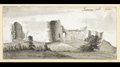 Pevensey Castle, Sussex, by Francis Grose.