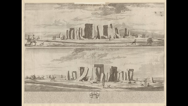 David Loggan (1634-92), A Prospect of Stonehenge from the West: A Prospect of Stonehenge from the South, published London, between about 1684-5