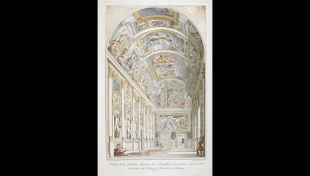 A view of Annibale Carracci's fresco gallery in the Palazzo Farnese, Rome
