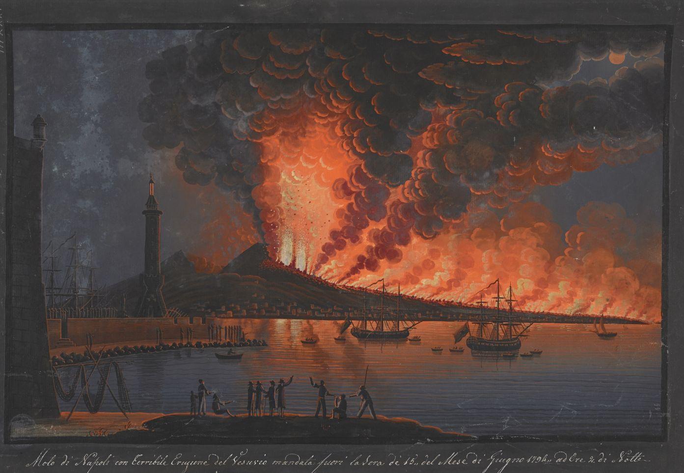 A view of Vesuvius erupting on 15 June 1794