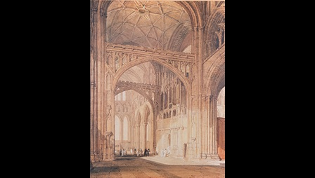 Joseph Mallord William Turner (1775-1851), Interior of Salisbury Cathedral, Looking Towards the North Transept, 1801-5