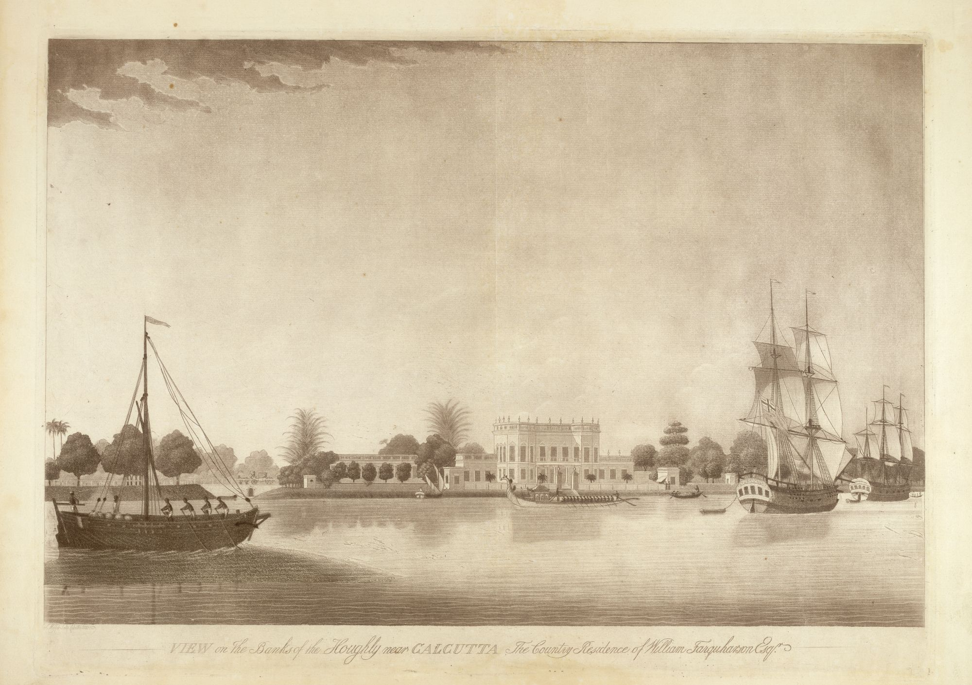 View on the Banks of the Hooghly near Calcutta, by James Moffat after Frans Balthazar Solvyns.