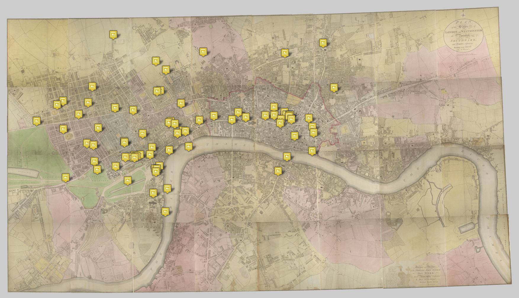 Papworth's Select Views map (Matthew Sangster)